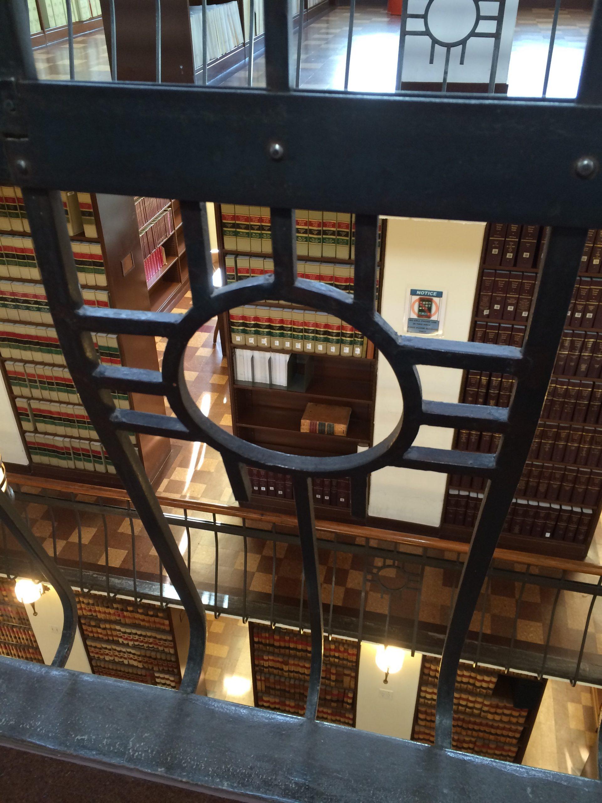 Zia symbol on railing of second floor